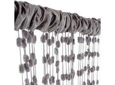 Dětská záclona - tmavě-šedá