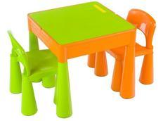 Dětský stůl se židličkami MAMUT - zeleno-oranžový
