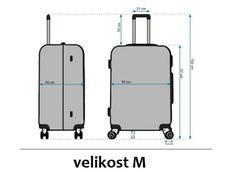 Moderní cestovní kufry - rozměry vel.M