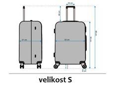 Moderní cestovní kufry - rozměry vel.S