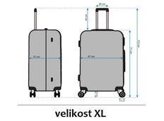 Moderní cestovní kufry - rozměry vel.XL