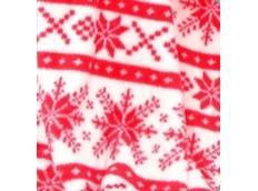 Deka / přehoz SNOW bílo-červená