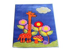 Dětský koberec Žirafa - modrý