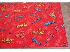Dětský koberec GRAFFITI červený