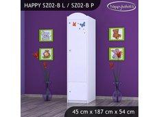 Dětská skříň SLON A MOTÝLCI - TYP 2B