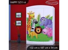 Dětská skříň MADAGASKAR - TYP 11