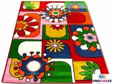 Dětský koberec ČERVENÁ FANTAZIE - dětské koberce