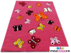 ětský koberec BUTTERFLY pink - dětské koberce