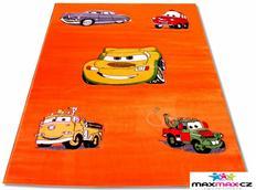 Dětský koberec CARS ORENGE - dětské koberce