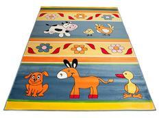 Dětský koberec FARM BLUE - dětské koberce