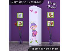 Dětská skříň - TYP 2B - bílá