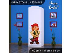 Dětská skříň - TYP 4B - bílá