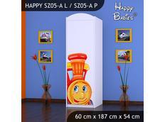 Dětská skříň - TYP 5A - bílá