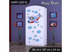 Dětská skříň - TYP 7B - bílá