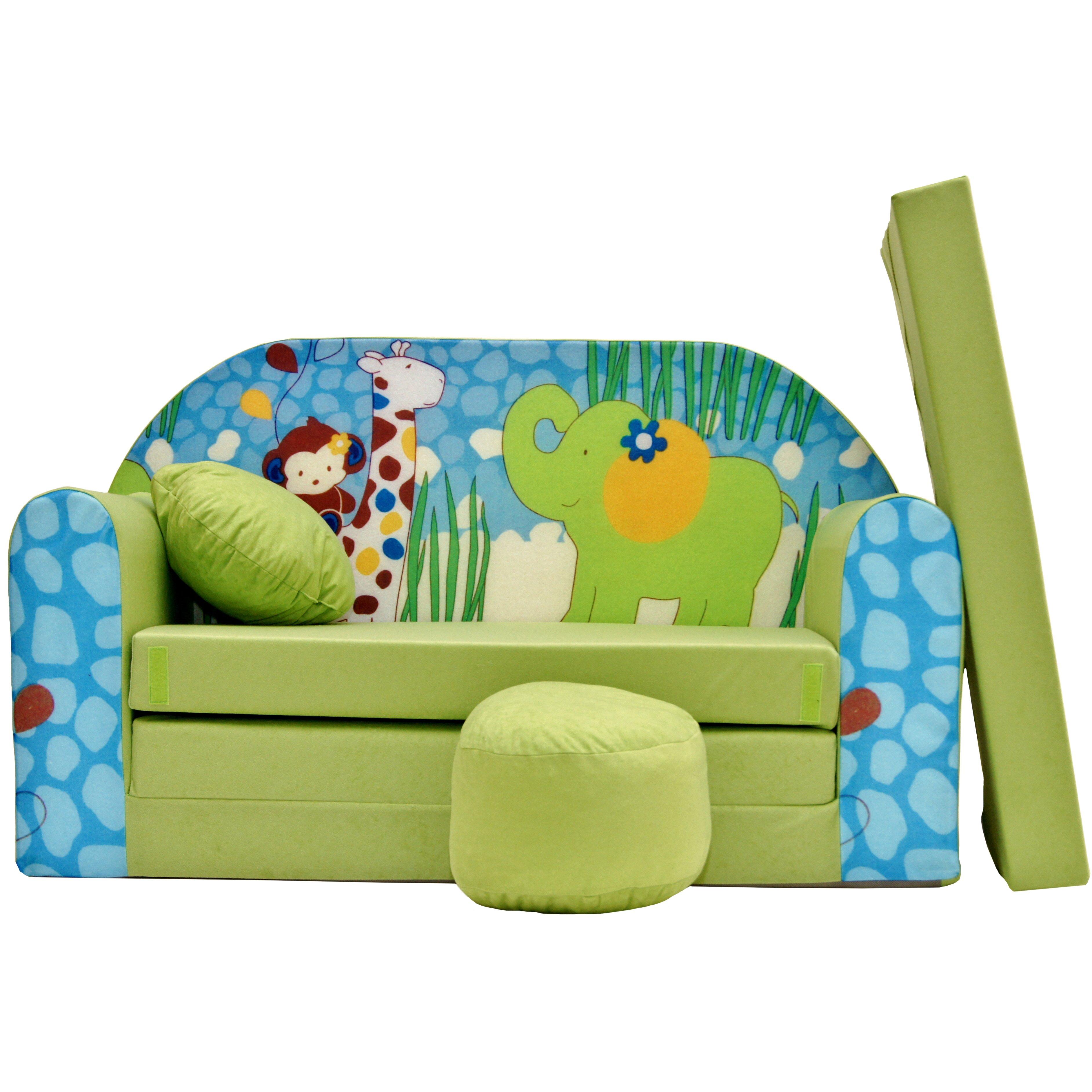 1c09aa945091 Dětská pohovka Zelená ZOO - Dětské pohovky ...