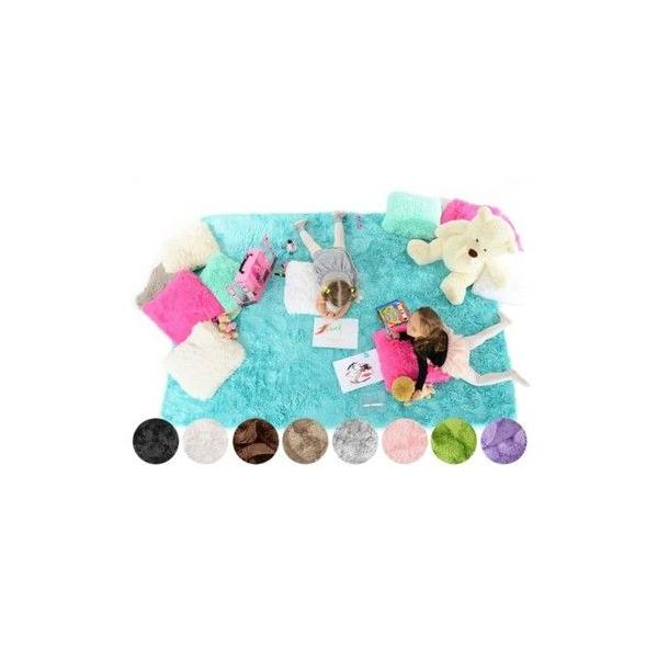 Plyšový dětský koberec CAPPUCCINO