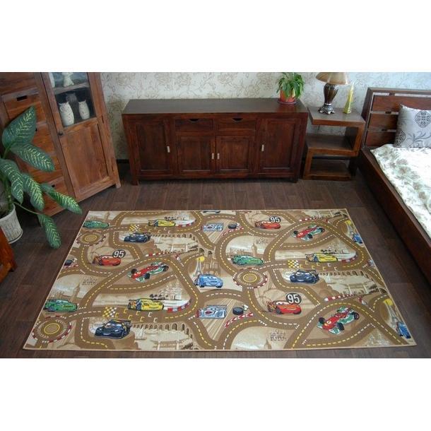 Dětský koberec CARS hnědý 2