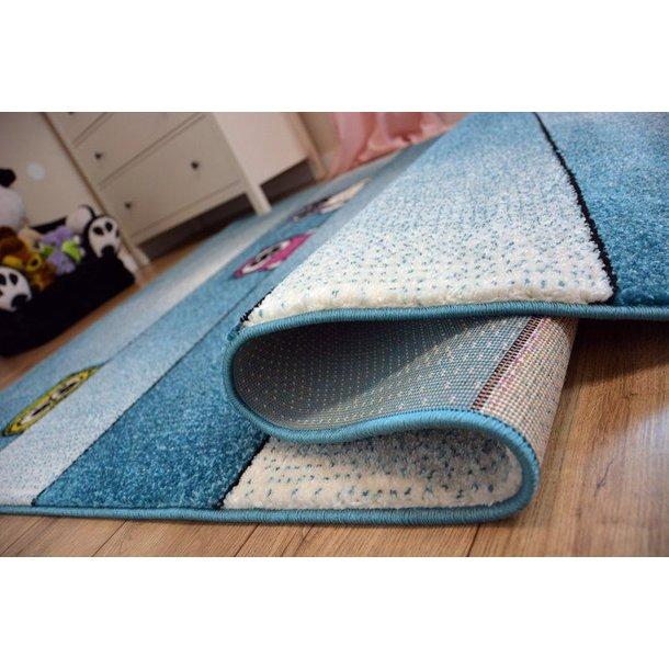 Dětský koberec KIDS Sovičky - modrý, 240x330 cm