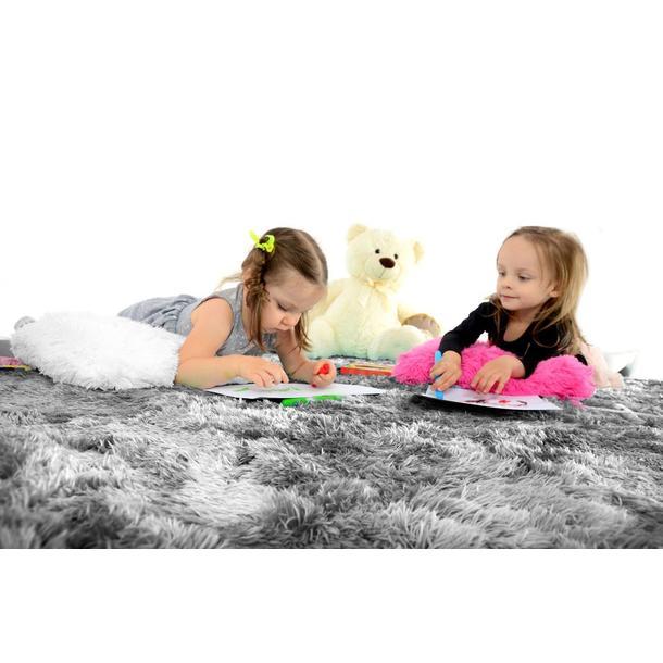 Dětský plyšový koberec ŠEDÝ