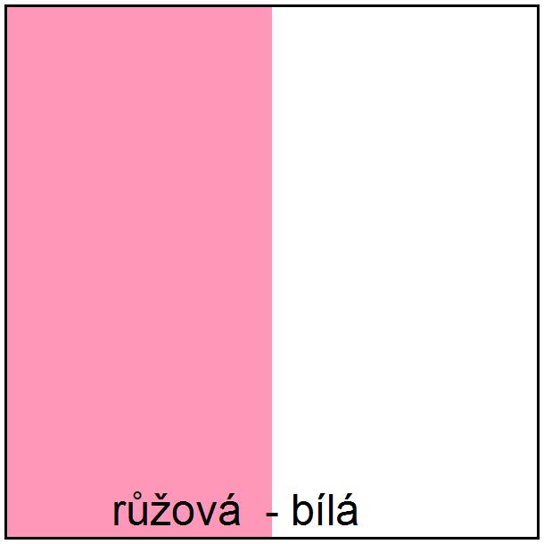 Barevné provedení - růžová / bílá