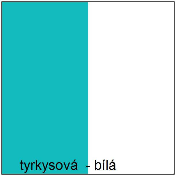 Barevné provedení - tyrkysová / bílá