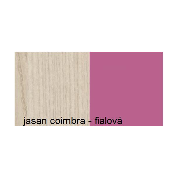 Barevné provedení - jasan coimbra - fialová