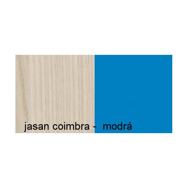Barevné provedení - jasan coimbra - modrá