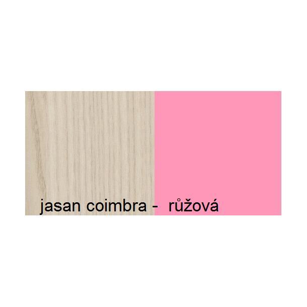 Barevné provedení - jasan coimbra - růžová