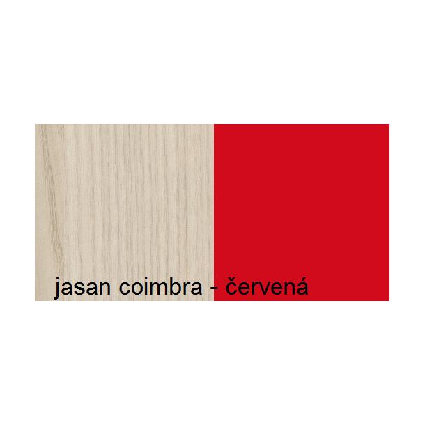 Barevné provedení - jasan coimbra / červená