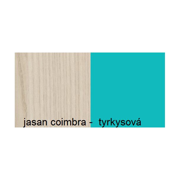 Barevné provedení - jasan coimbra / tyrkysová