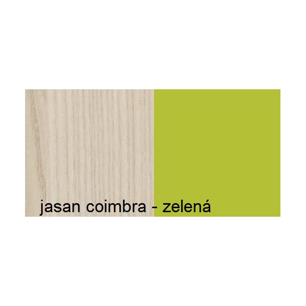 Barevné provedení - jasan coimbra / zelená