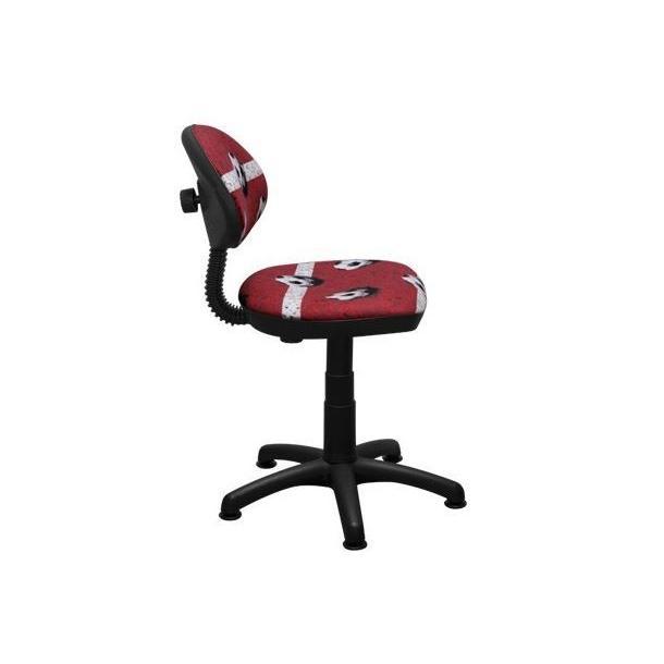 Dětská otočná židle KIERAN - FOTBAL červená