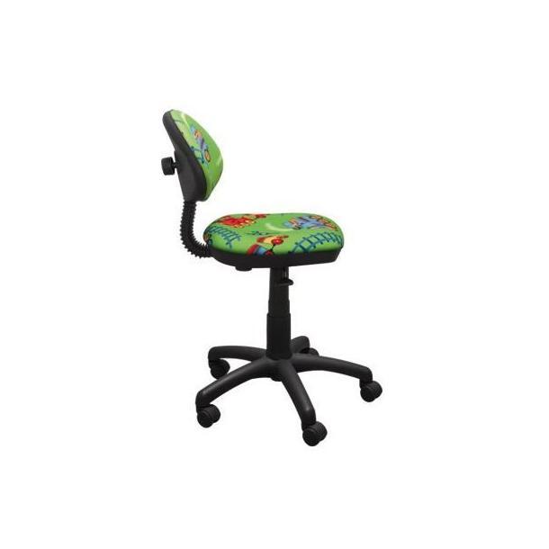 Dětská otočná židle KIERAN - VLÁČEK zelená