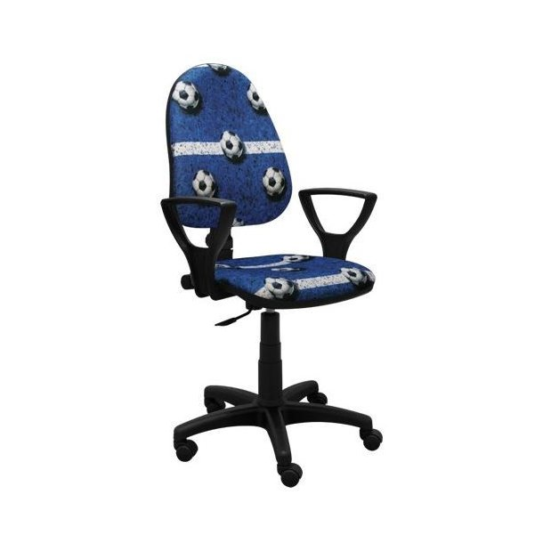 Dětská otočná židle GREG - FOTBAL modrá