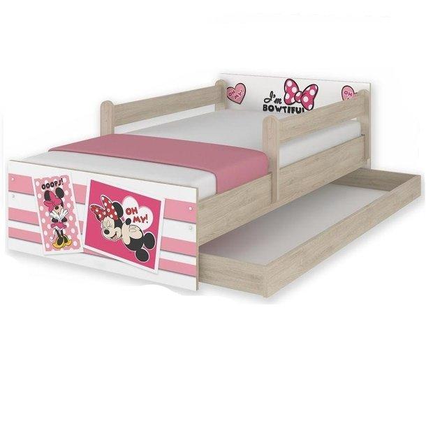 Dětská postel MAX Disney - MINNIE II 180x90 cm - SE ŠUPLÍKEM