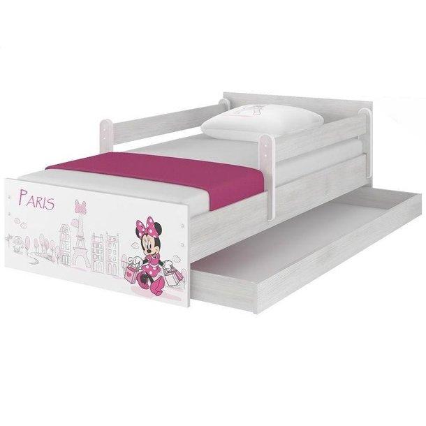 Dětská postel MAX Disney - MINNIE PARIS 160x80 cm - SE ŠUPLÍKEM