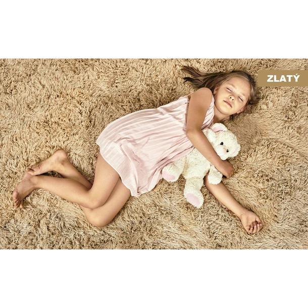 Dětský plyšový koberec MAX ZLATÝ
