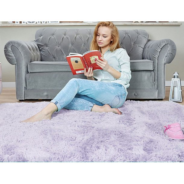 Dětský plyšový koberec MAX LEVANDULOVÝ.