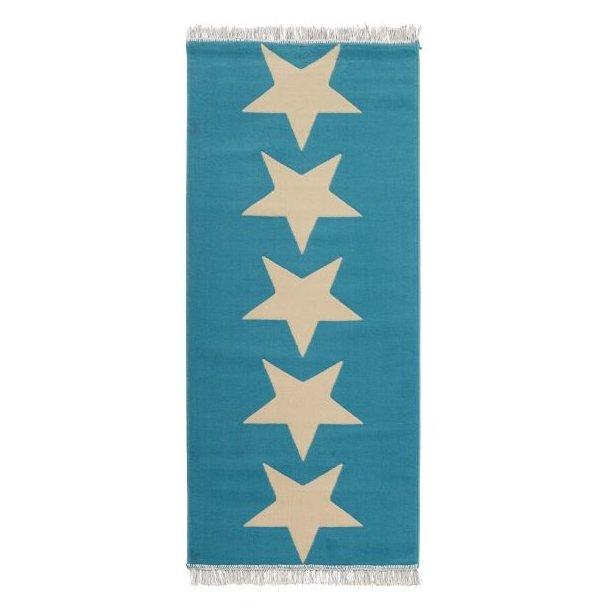 Běhoun 80x200 Fringe Stars - modrý