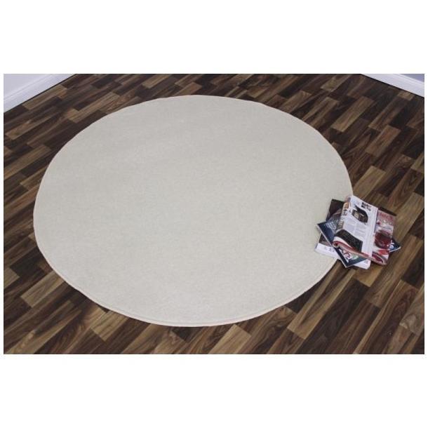 Kusový koberec Nasty - béžový kulatý