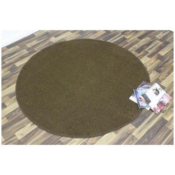 Kusový koberec Nasty - hnědý kulatý