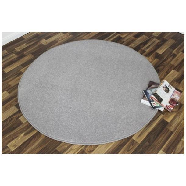 Kusový koberec Nasty - stříbrný kulatý