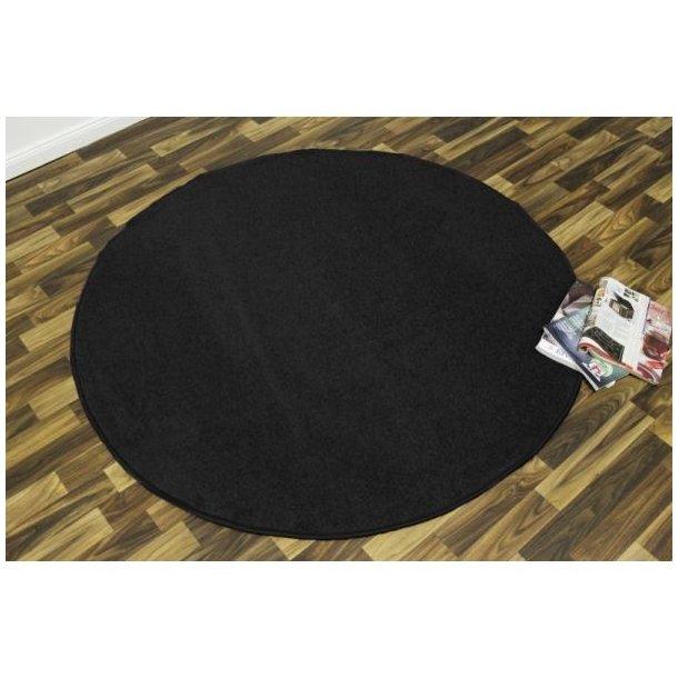Kusový koberec Nasty - černý kulatý