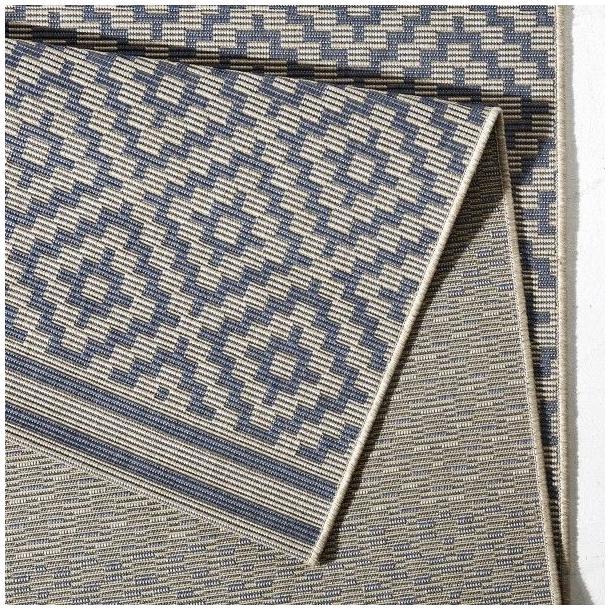 Kusový koberec Meadow Raut - modrý