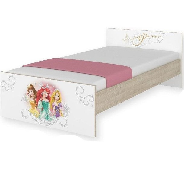 Dětská postel MAX Disney - PRINCEZNY 160x80 cm - BEZ ŠUPLÍKU