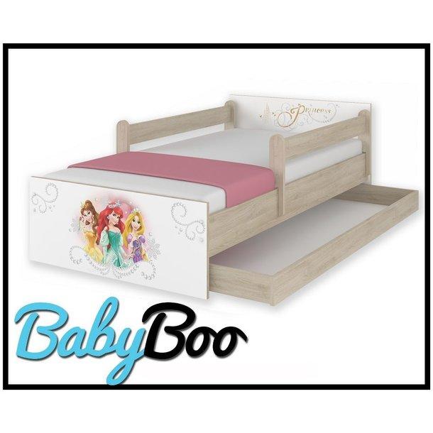 Dětská postel MAX Disney - PRINCEZNY 160x80 cm - SE ŠUPLÍKEM