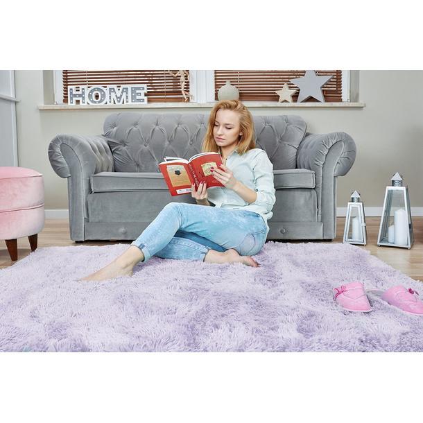 Plyšový dětský koberec MAX LEVANDULOVÝ