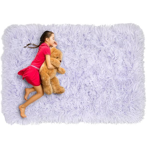 Dětský plyšový koberec MAX LEVANDULOVÝ