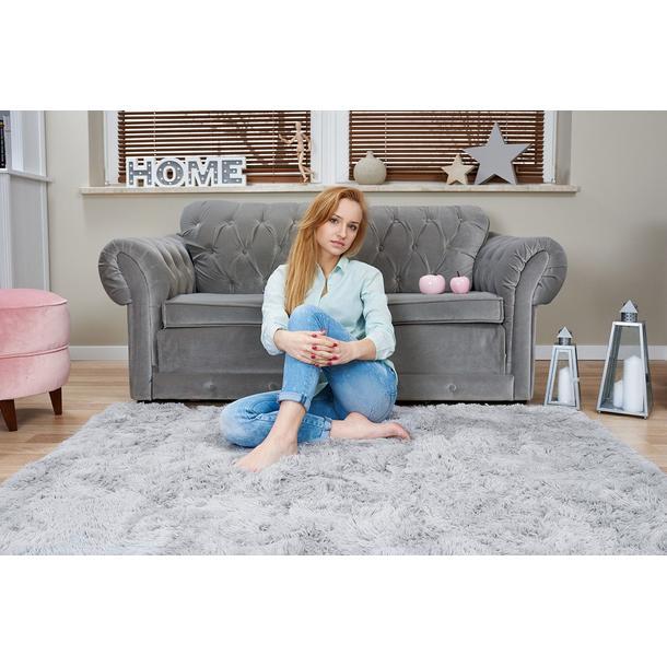 Plyšový dětský koberec MAX ŠEDÝ