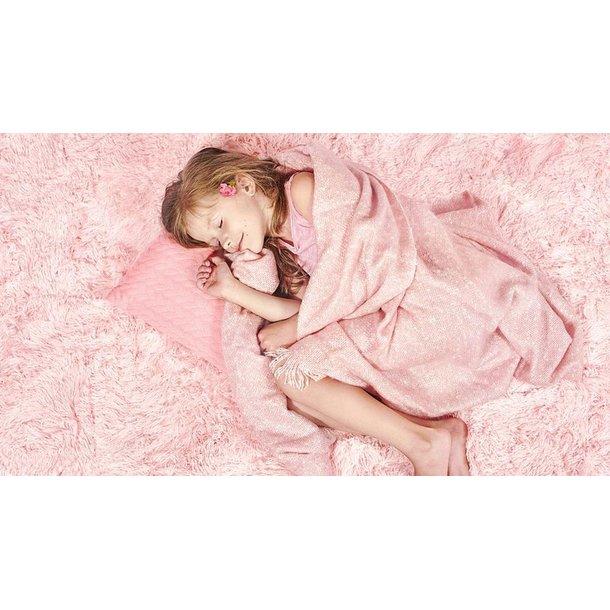 Plyšový dětský koberec MAX světle růžový.